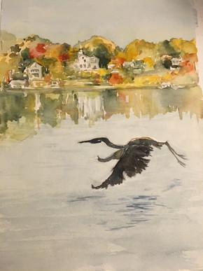 """""""Heron"""" by Janet Grant"""