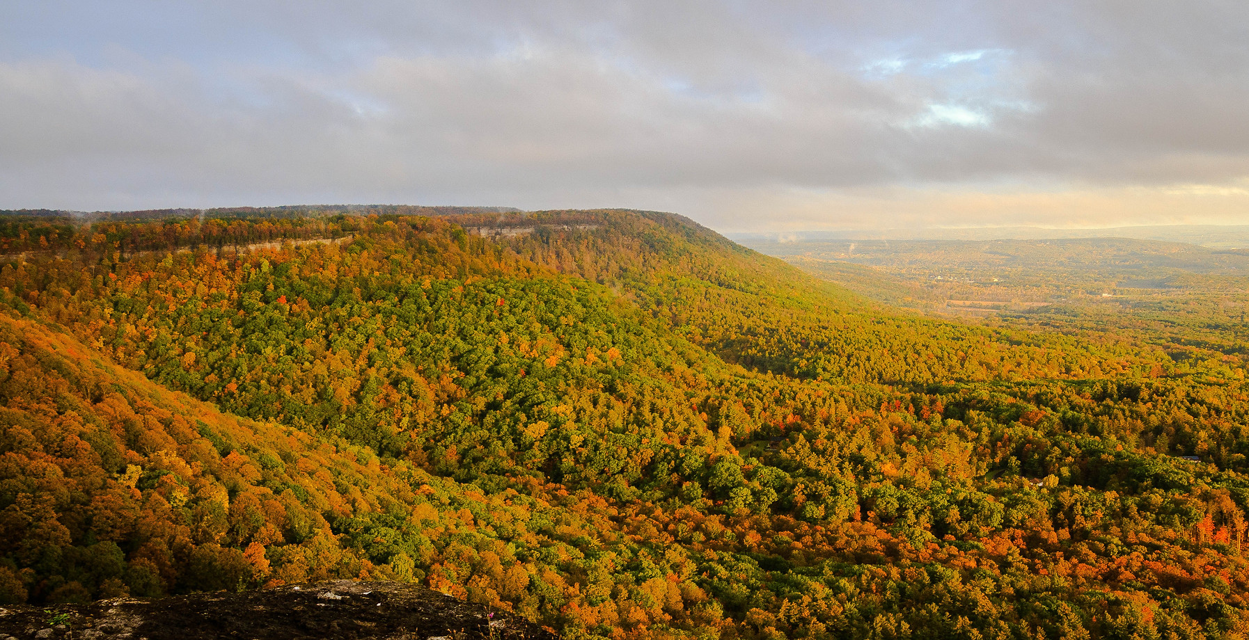 Autumn Escarpment Valley View