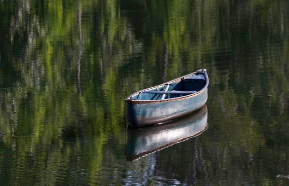 Canoe at ND Pond