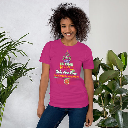 """Women Short-Sleeve T-Shirt """"LIVE BAND. All Is One Christmas Tree"""""""