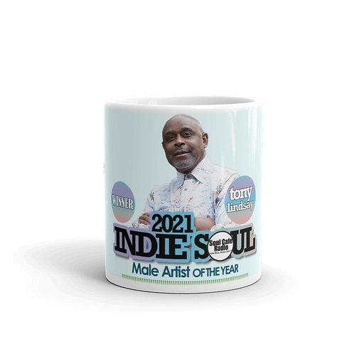 White glossy mug Male Artist Of The Year - Tony Lindsay