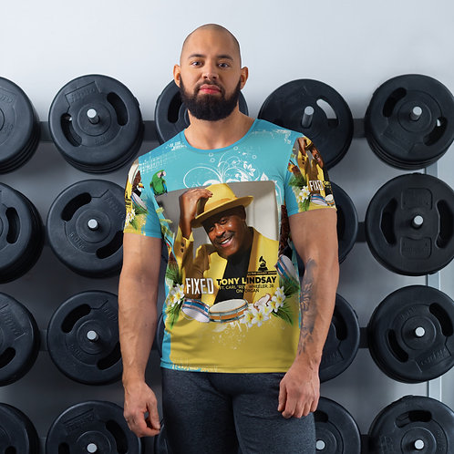 Men's Athletic T-shirt Fixed By Tony Lindsay Tropical Drums