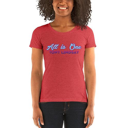 Ladies' short sleeve Tri-blend t-shirt  'All Is One' Tony Lindsay