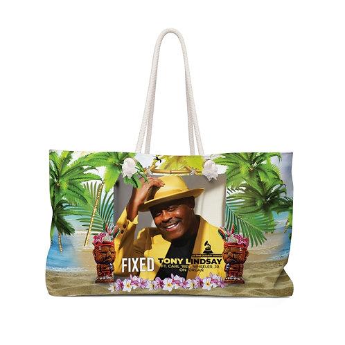 Weekender Beach Bag with Fixed By Tony Lindsay - Luau