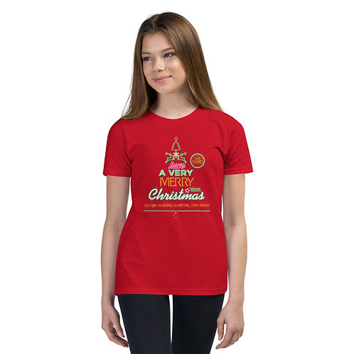"Girl's Youth Short Sleeve T-Shirt ""LIVE BAND. Have a Merry Christmas"""