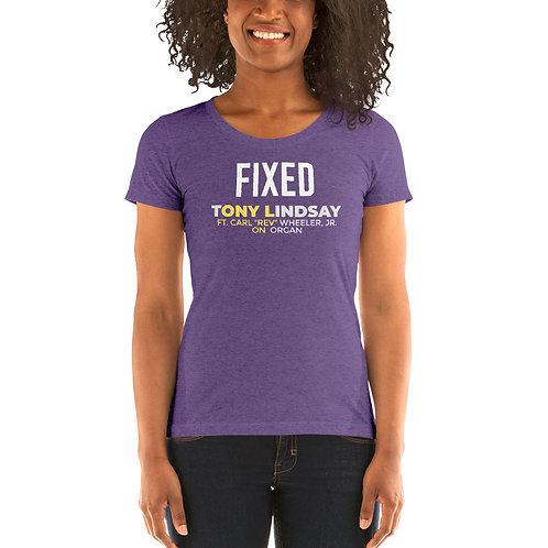 Womens' short sleeve t-shirt Fixed By Tony Lindsay - Logo