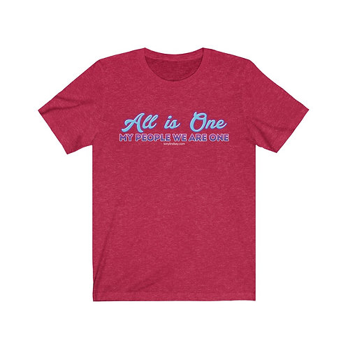 Women Jersey Short Sleeve Tee 'All is one—My people we are one'