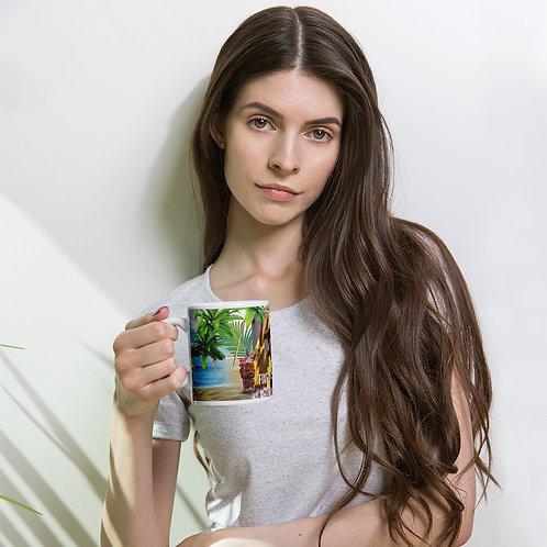 White glossy mug Fixed By Tony Lindsay - Luau