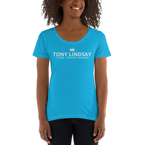Ladies' Scoopneck T-Shirt 'Tony Lindsay 11 Time Grammy Winner
