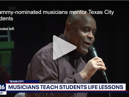 Grammy-nominated musicians mentor Texas City students