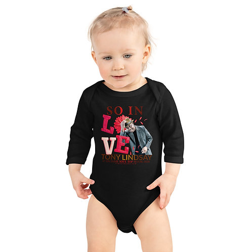 "Infant Long Sleeve Bodysuit Onesies ""So In Love"" Tony Lindsay"