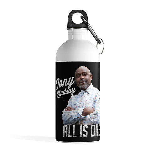 Stainless Steel Water Bottle 'All Is One Tony Lindsay'
