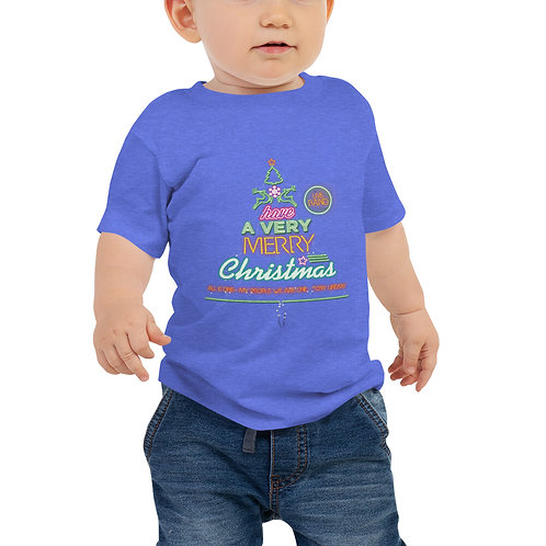 "Baby Jersey Short Sleeve Tee ""LIVE BAND. Have a Merry Christmas"""