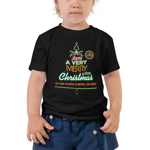 "Toddler Short Sleeve Tee ""LIVE BAND. Have a Merry Christmas"""