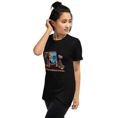 "Women Short-Sleeve T-Shirt ""Merry Christmas"" Single"