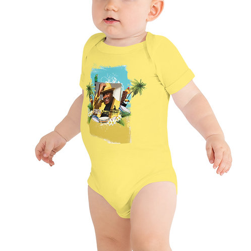 Baby short sleeve one piece Fixed By Tony Lindsay Tropical Drums