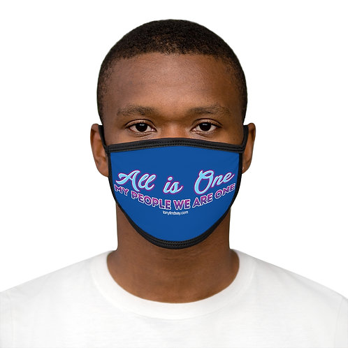 """""""All is one—My people we are one"""" Mixed-Fabric Face Mask"""