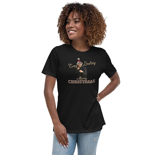 Women's Relaxed T-Shirt Merry Christmas Tony Lindsay