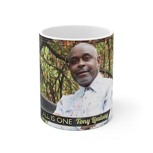 Mug 11oz 'All Is One Tony Lindsay' CD Cover