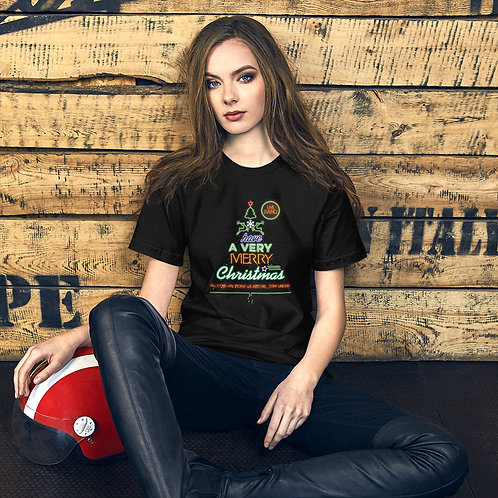 "Women Short-Sleeve T-Shirt ""LIVE BAND. Have a Merry Christmas"""