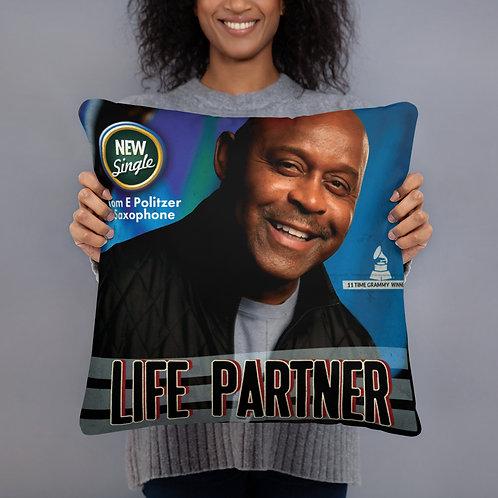 "Basic Pillow ""Life Partner"" Tony Lindsay"