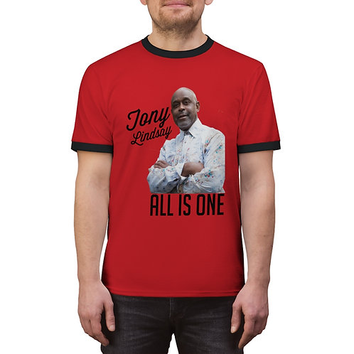 Men Ringer Tee 'All Is One Tony Lindsay'
