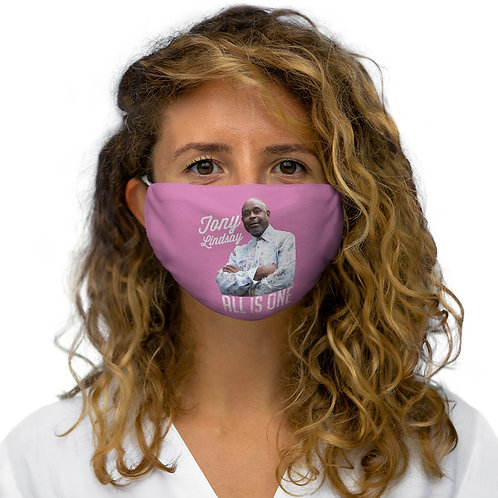 Snug-Fit Polyester Face Mask 'All Is One Tony Lindsay' Pink