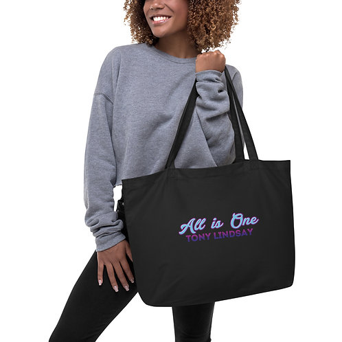 Large organic tote bag 'All Is One Tony Lindsay' Colorful Collection