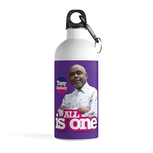 Stainless Steel Water Bottle 'All Is One Tony Lindsay' Colorful Collection