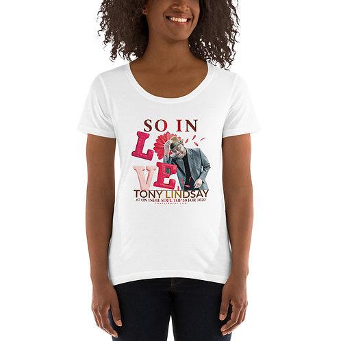 "Ladies' Scoopneck T-Shirt ""So In Love"" Tony Lindsay"