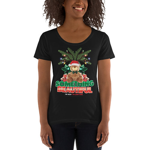 Ladies' Scoopneck T-Shirt Something Beautiful - Tony Lindsay