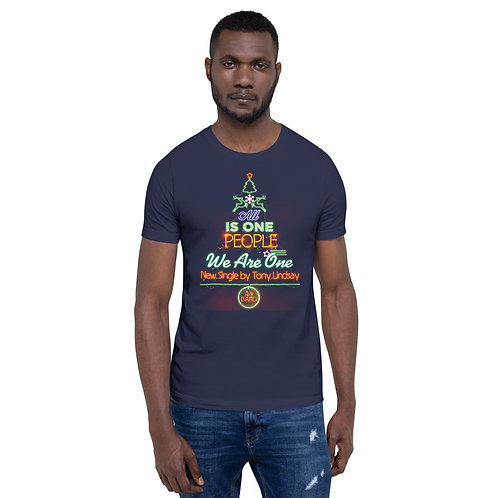 "Short-Sleeve Men T-Shirt ""LIVE BAND. All Is One Christmas Tree"""