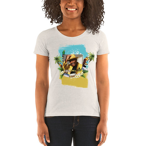 Ladies' short sleeve t-shirt Fixed By Tony Lindsay Tropical Drums