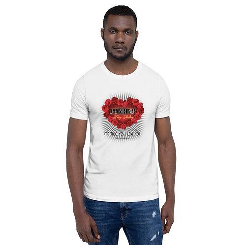 Short-Sleeve Men T-Shirt It's true, yes, I love you. Rose