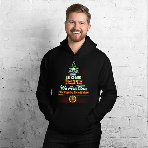 """Men Hoodie """"LIVE BAND. All Is One Christmas Tree"""""""