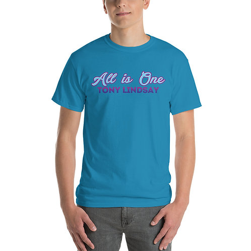 Short Sleeve Men T-Shirt  'All Is One Tony Lindsay' Colorful Collection