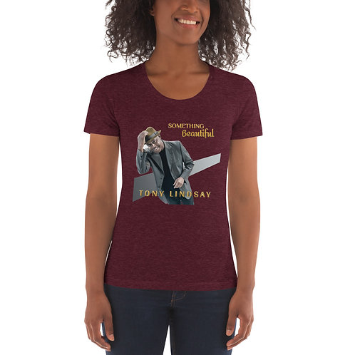 Women's American Apparel Crew Neck T-shirt Something Beautiful - Tony Lindsay