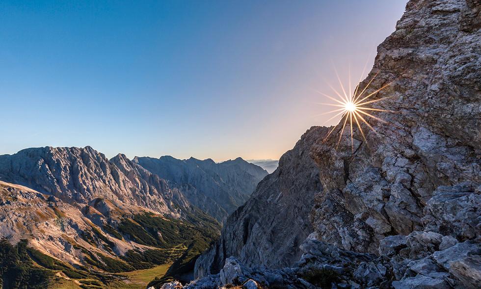 Sonnenaufgang bei der Speckkarspitze