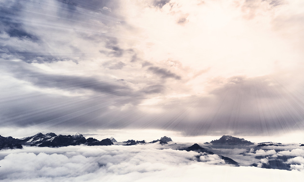 Wolkenstimmung in den Dolomiten