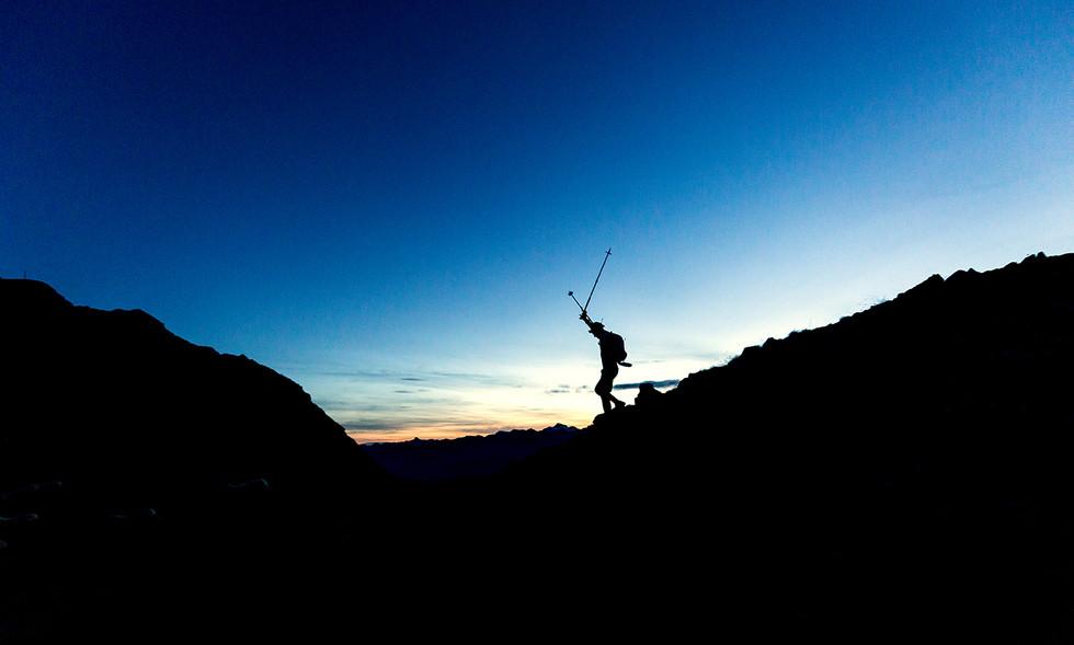 Läufer bei Sonnenaufgang