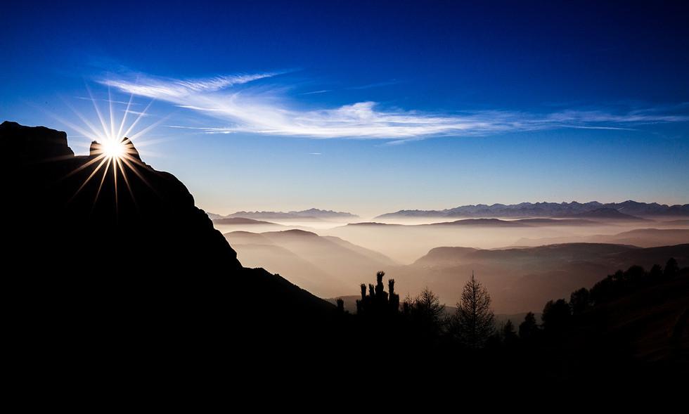 Sonnenuntergang beim Schlern