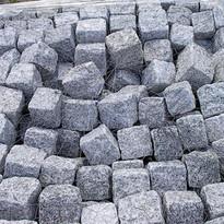 Grey Cube Granite Cobbles
