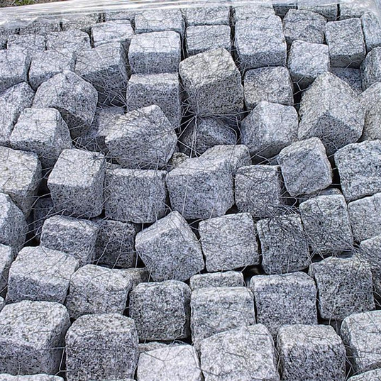 Grey Cube Granite Cobbles