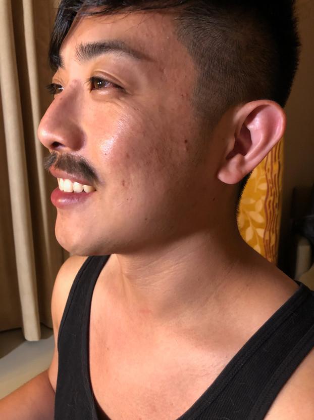 Hand Laid Mustache