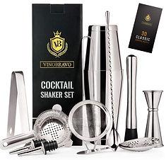 11-Piece Boston Cocktail Shaker Bar Set