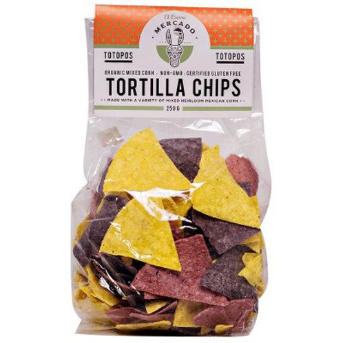 Organic Heirloom Rainbow Tortilla Chips - El Burro