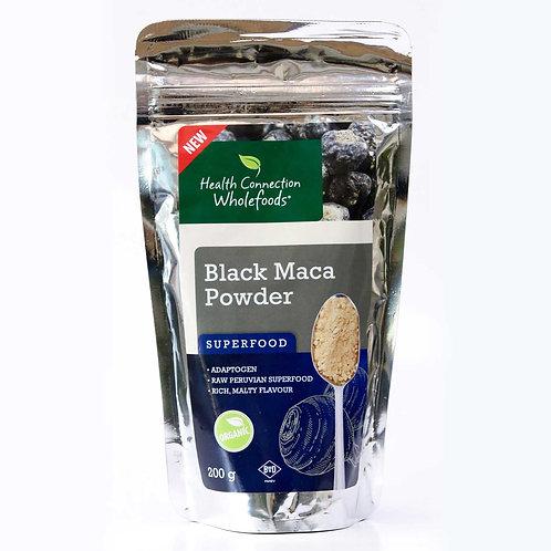 Organic Black Maca Powder 200g - Health Connection