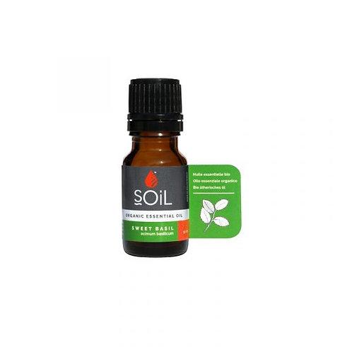 Organic Sweet Basil Essential Oil 10ml - Soil