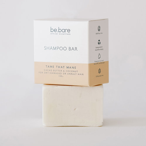 Tame that Mane Shampoo Bar 100g - Be Bare