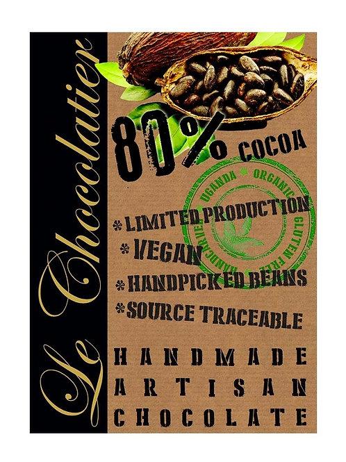 80% Cocoa Vegan Chocolate - Le Chocolatier